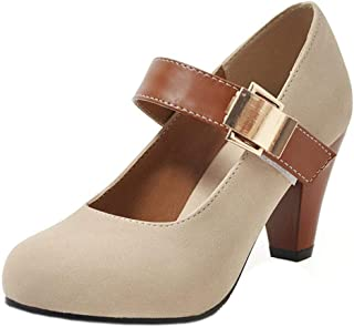 TAOFFEN Women Classic Spring Shoes Ankle Strap
