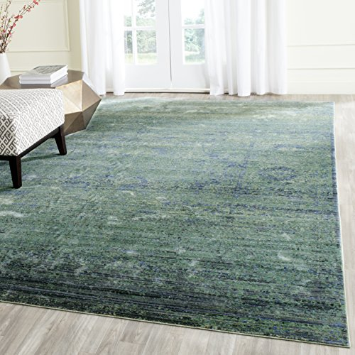 Safavieh Mystique Collection MYS920G Watercolor Overdyed Distressed Area Rug, 5' x 8', Green / Multi