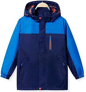マウンテンパーカー キッズ ジャケット ジュニア 子供 ウインドブレーカー 男の子 レインコート 雨合羽 フード付き アウトドアジャケット 子ども 女の子 多機能 防風 防水 防寒 軽量 登山 ランニング 遠足 旅行 120-160サイズ