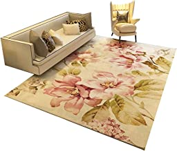 YANZHEN Hallway Runner Rugs Soft Cutable Floral Pattern Non-Slip Backing Washable Wear Resistant Blended Fabric, Multiple ...