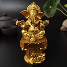 Sculpture Appreciation Buddha Statue Indian Elephant God Sculpture Buddha Resin Craft Ornaments