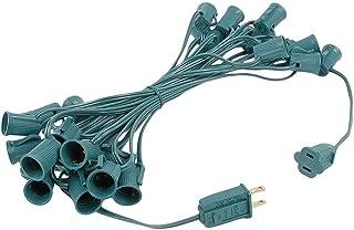 Novelty Lights 25 Foot C9 Outdoor String Light Christmas Stringer - Patio String Lights - Intermediate Base (C9/E17) - 12
