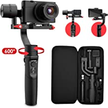 Hohem All in 1 3-Axis Gimbal Stabilizer for Compact Cameras/Action Camera/Smartphone w/ 600° Inception Mode, 0.9lbs Payload for iPhone 11 Pro Max/Gopro Hero 8/Sony Compact Camera RX100 - iSteady Multi