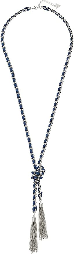 GUESS - Woven Chain Know Lariat 32 Necklace inch