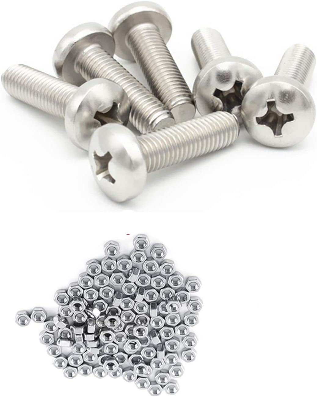 Screw screw 250pc set A2 Max 54% OFF Stainless Flat Cap Button Head quality assurance Steel M3