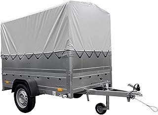 Autoaanhanger Garden Trailer 201 KIPP met extra boordwanden, steunwiel, hoogzeil en hoogschroef