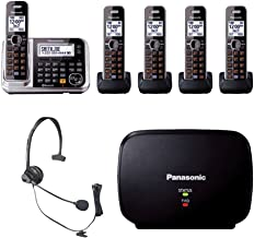 Panasonic KX-TG7875S Bluetooth Enabled Phone w/KX-TG680S DECT 6.0 Cordless Telephone, Headset & Range Extender