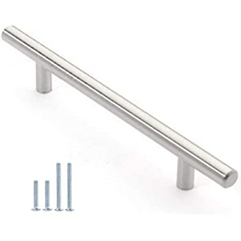 Wang Date 30 Pack 12mm Stainless Steel Kitchen Cabinet Handles T Bar Pull 4 Overall Length 2 5 Hole Centers Amazon Com