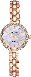 MESTIGE Womens Quartz Watch, Analog Display and Brass Strap MSWA3193