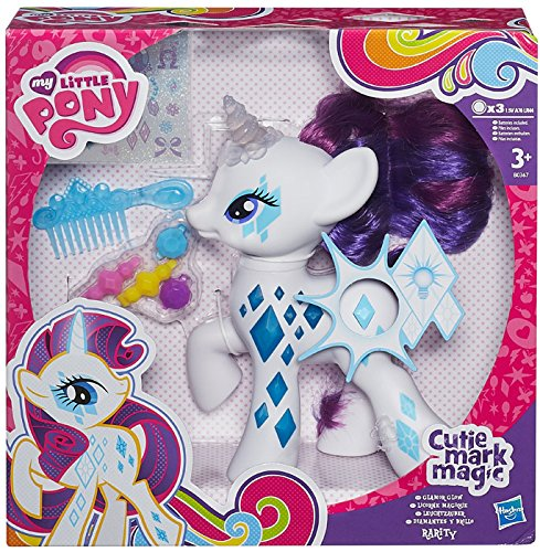 Hasbro My Little Pony - Cutie Mark Magic, Glamour Glow Rarity Figur, UK Import