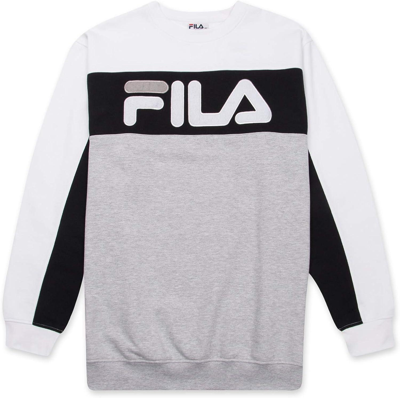 Fila Sweatshirt For Men Big And Tall French Terry Crewneck Sweatshirt FILA Logo