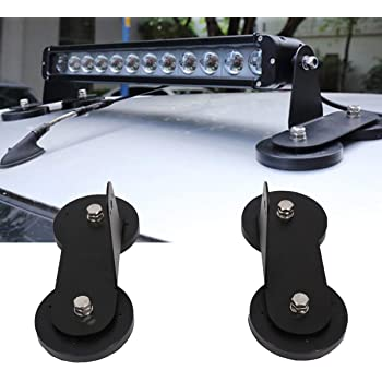 soporte magn/ético con ventosa para barra de luz de trabajo LED universal para SUV negro luces modificadas 2 soportes magn/éticos de montaje para techo de coche