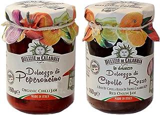 Konfitüren Delizie di Calabria: Rote Zwiebeln aus Tropea IGP und Chili 160 gr x 2