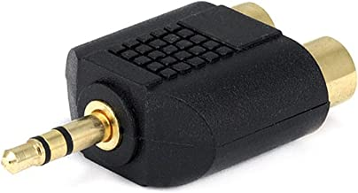 3.5mm Stereo Plug to 2 RCA Jack Splitter Adaptor - Gold Plated [Electronics]
