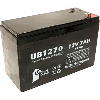 12V, 7Ah, 7000mAh, F1 Terminal, AGM, SLA Replacement UB1270 Universal Sealed Lead Acid Battery Powersonic PS1270F1 Battery