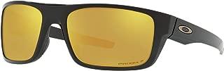 Oakley Drop Point Sunglasses Polished Black with Prizm 24K Gold Polarized Lens + Sticker
