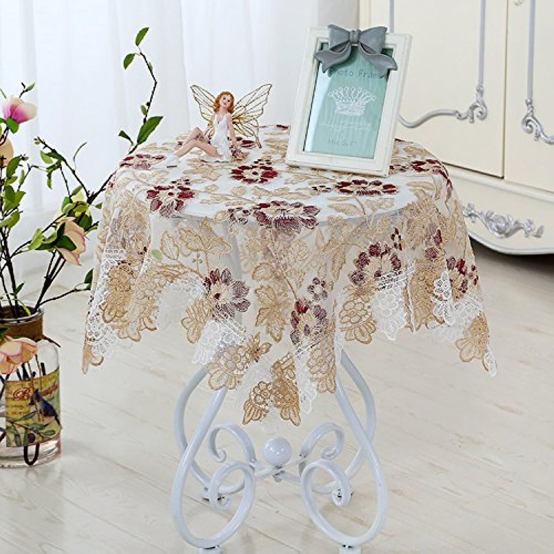 HL-PYL-europischen Stil Tischdecke Glas Garn Besteickte Tischdecke europischen Tischdecke pastorale Spitze moderne Schlichtheit B-Runde 180