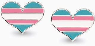 LGBT Pride Earrings - Gay - Tran - Bi - Pan … (2 Pairs of Earrings, Transgender Stud Earrings)