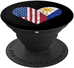 Philippines Flag Filipino American Hometown Vintage Gift PopSockets Grip and Stand for Phones and Tablets