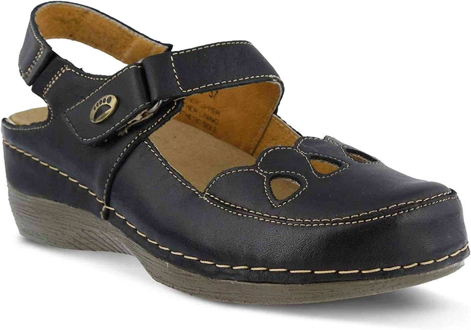 Spring Step Women's Hope Clog & Mules   color Black   Leather Clog & Mules