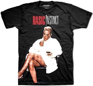 Basic Instinct T Shirt Crossed Legs Movie Logo 公式 Studiocanal メンズ