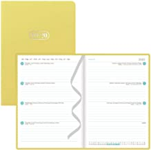 Letts Pastel - Academic Week to View Planner, August 2019 to July 2020, Sewn Binding, Multilingual, 8.25 x 5.875 Inches, Lemon (C031147-20)