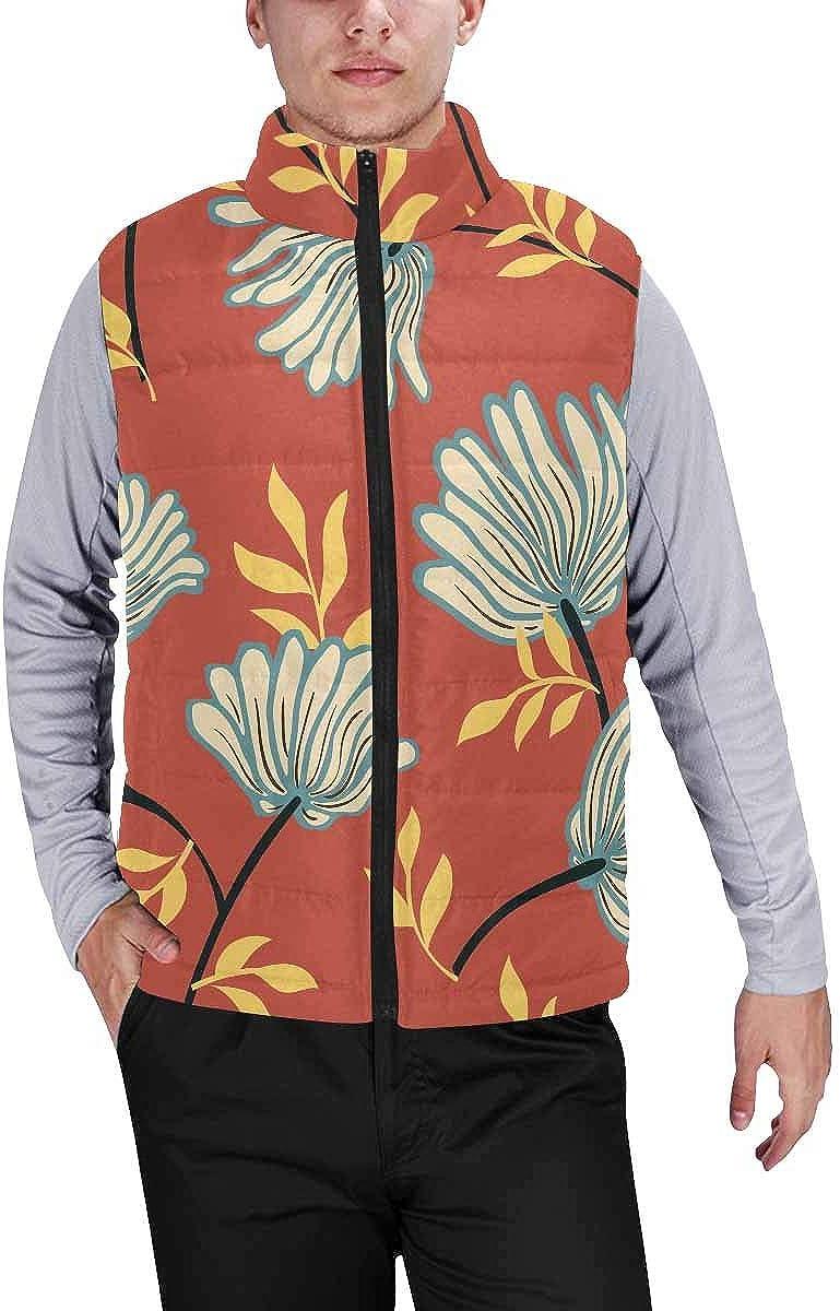 InterestPrint Men's Full-Zip Soft Warm Winter Outwear Vest Females in the Herd