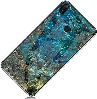 Yoodi - Carcasa para Huawei Y9 (2019), diseño de mármol, Vidrio Templado, antiarañazos, Borde Flexible, para Huawei Y9 (20...