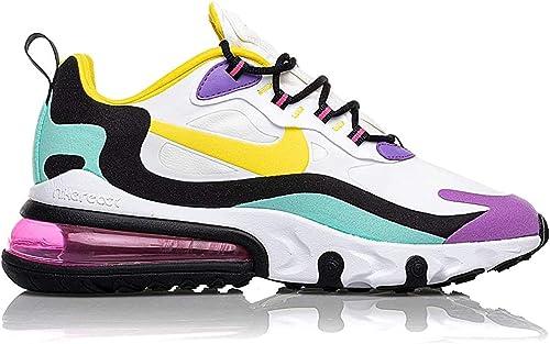 Nike Air Max React Scarpe Uomo Sneakers Bianca e Colorata AO4971-101