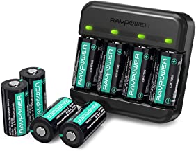 CR123A Lithium Batteries RAVPower 8 Pack 3.7V 700mAh [CAN BE RECHARGED] Protected..