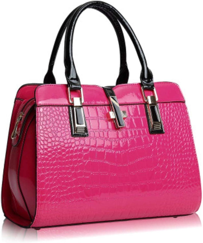 XUZISHAN Umhängetaschen Umhängetaschen Umhängetaschen Frauen Pu Leder Handtasche Damen Tasche Top-Handle Taschen Tragetasche B07QJWZD14  Prägnante Einfachheit 29546b