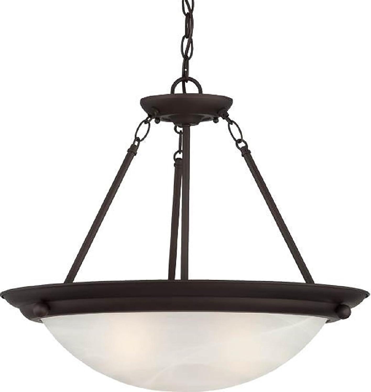 Volume Lighting V6973-79 Lunar 3-Light Pendant or Semi-Flush Ceiling, Antique Bronze