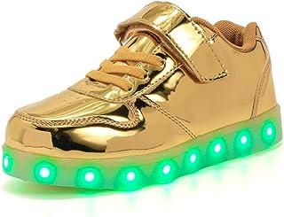 Licy Life-UK Unisex Enfants Garçon Fille LED Lumineuse Chaussures Securité Mode Dessus 7 Couleurs Clignotants USB Recharge...