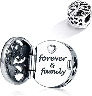 TIZU Forever Family Charm fit Pandora Bracelets for Women Sterling Silver Tree of Life Charms Jewelry Beads Gifts for Wome...