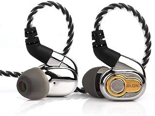 Linsoul BLON BL05 - Auriculares in-ear con diafragma CNT de 2 pines (2 pines, 0,78 mm, sin micrófono, BL05plateado)