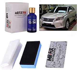 Autokcan 9H Nano Ceramic Coating, High Glass Anti-Scratch Automotive Ceramic Coating for Cars Kit Liquid Car Hydrophobic Paint Sealant Protection
