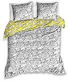 Looney Tunes Douceur d'Intérieur Tweety - Juego de cama (140 x 200 cm, algodón), color gris y amarillo