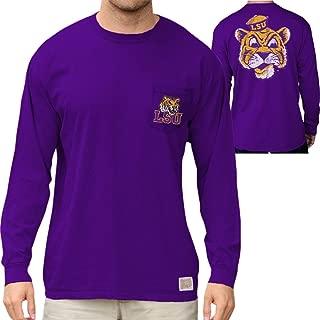 Elite Fan Shop NCAA Mens Pocket Long Sleeve Shirt Retro