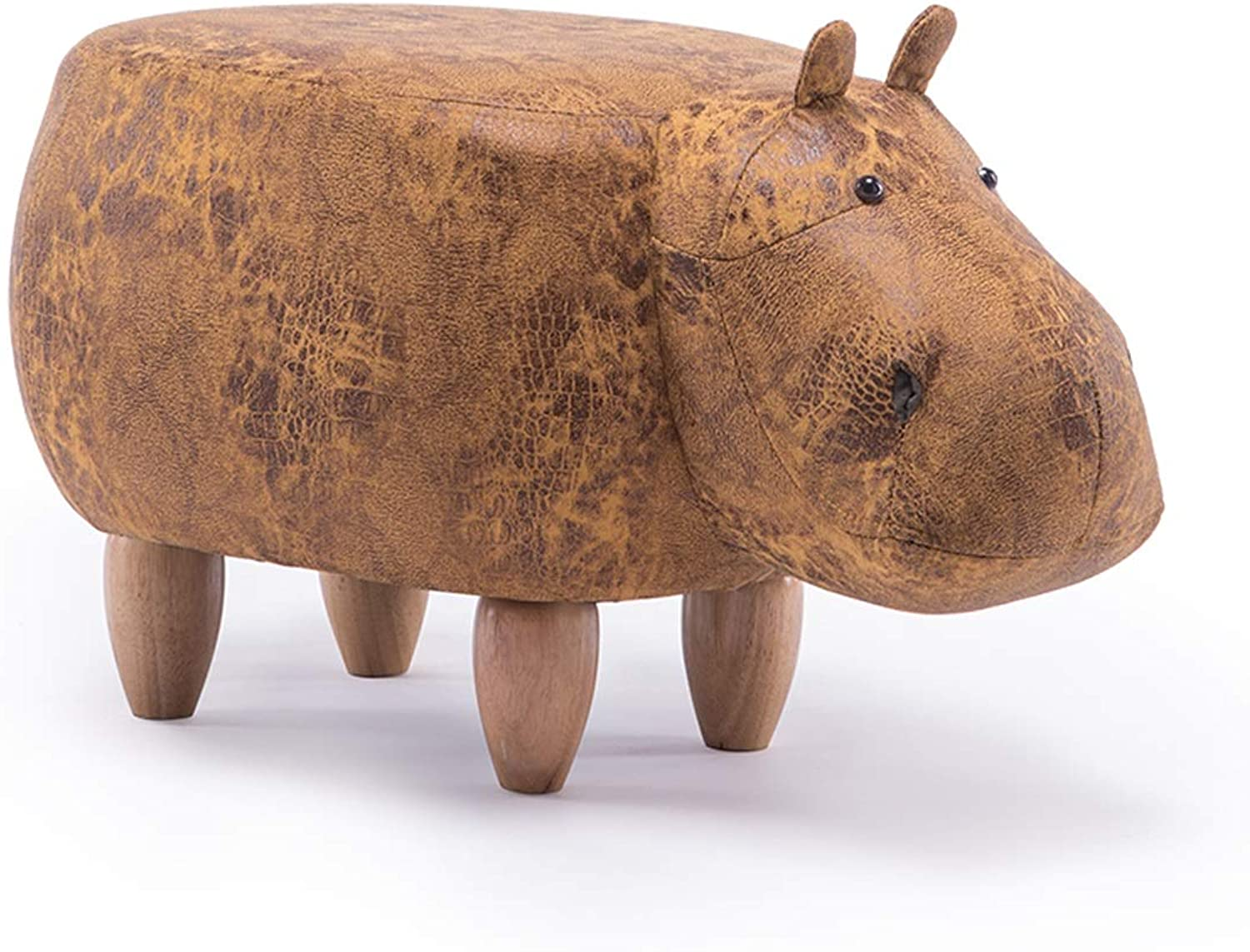 LRW Solid Wooden Footstool Creative Hippo shoes Stool Sofa Stool Living Room Low Stool Footstool 3