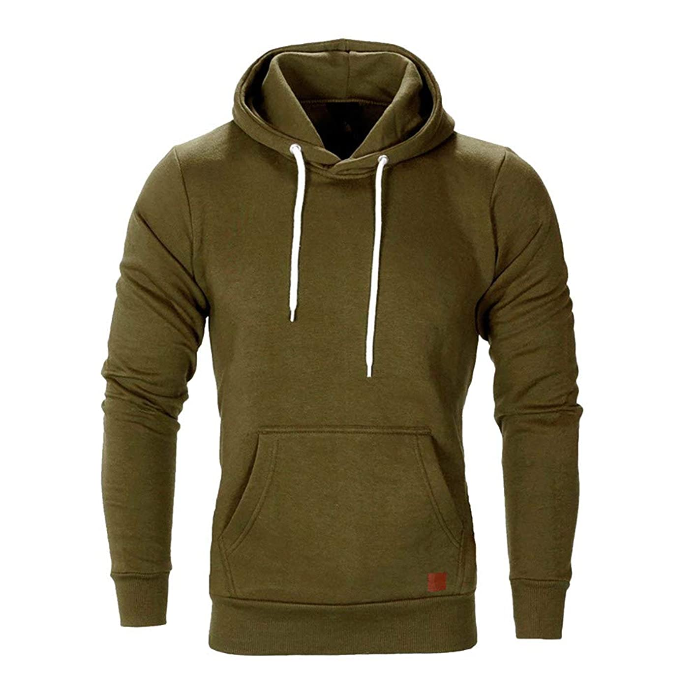 Sunhusing Men Autumn Winter Long Sleeve Casual Sweatshirt Hoodies Solid Color Tracksuits