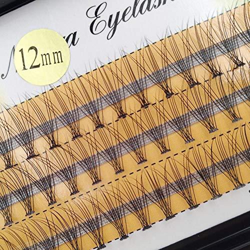 DOGKLDSF 60 Flowers Makeup Individual Cluster Eye Lashes Grafting False Eyelashes-12mm 0.07c Volume