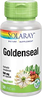 Solaray Goldenseal Root 550mg | Healthy Digestion, Immune Function & Respiratory Support | Whole Root | Non-GMO, Vegan & L...