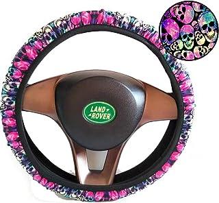 Bling Buy Neoprene Skull Sugar Steering Wheel Cover for Halloween Car Interial Decoration,Universal Fit