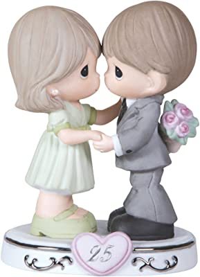 Precious Moments, Through The Years - 25th Anniversary, Bisque Porcelain Figurine, 123020,Multicolor
