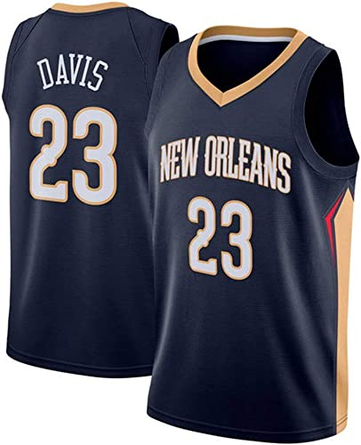 Anthony Davis   23 Jersey Basketball Masculin - NBA nouveau Orleans pélicans, Basket-Ball engrener Hommes Swinghomme Jersey Manches Sport Débardeur