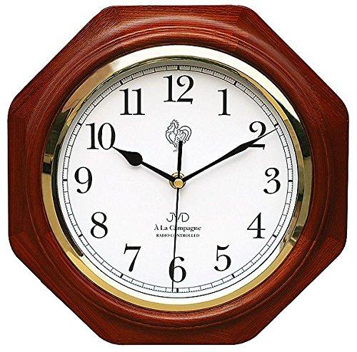 Wanduhr Funkuhr Uhr mit Funkwerk Mahagoni gut lesbar