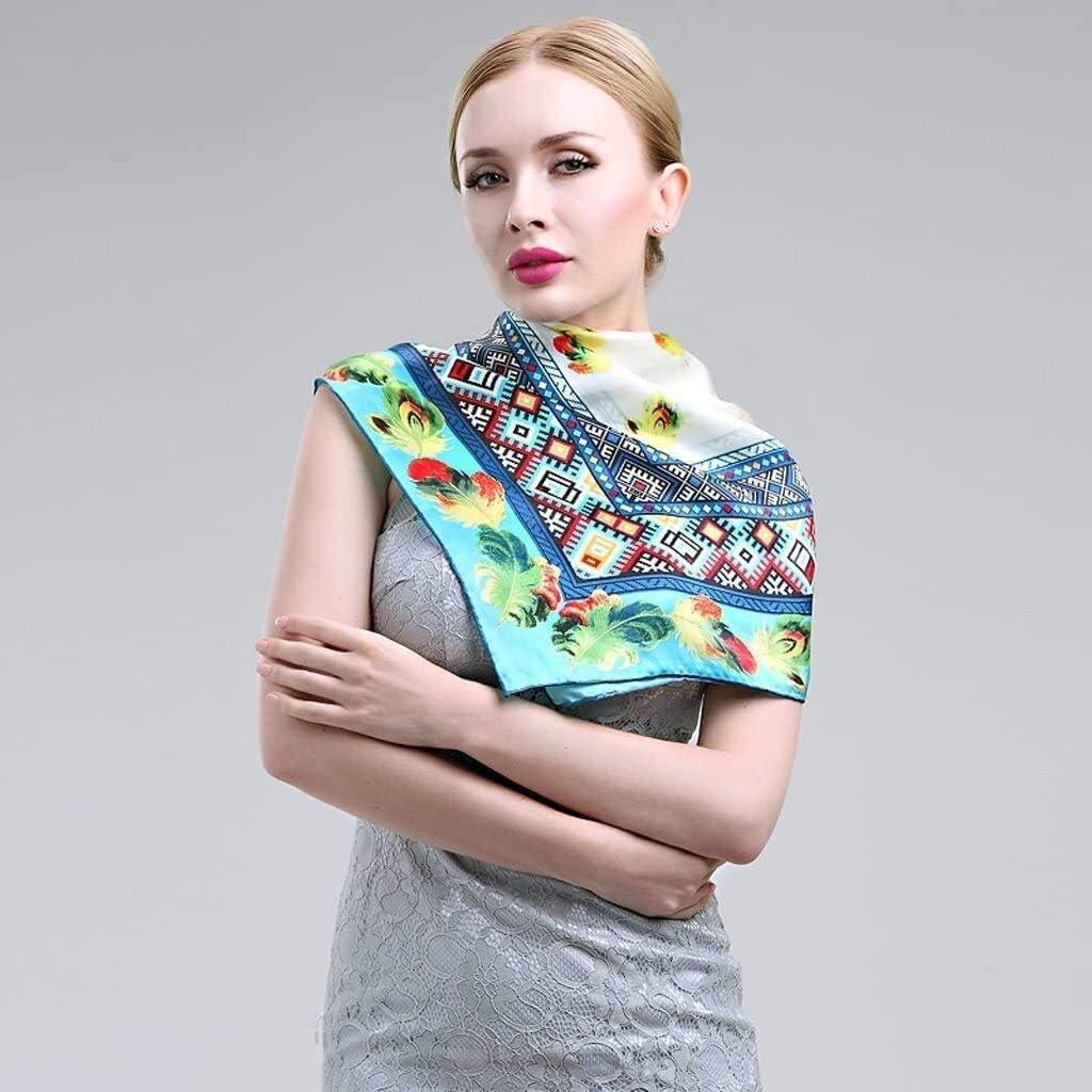YIWANGO Fashion Silk Scarves Spring and Autumn Scarves Scarf Large Scarf Wild Winter Scarf Shawl (Color : F) Women's Autumn and Winter Scarf