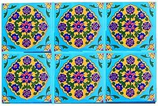 Shiv Kripa Blue Art Pottery Home Decor Flooring Seamless Pattern Traditional Handmade Install Furniture Backsplash Designe...