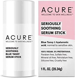 ACURE Seriously Soothing Serum Stick | 100% Vegan | For Dry to Sensitive Skin | Blue Tansy & Hyaluronic Acid - Soothes & Hydrates | 1 Oz