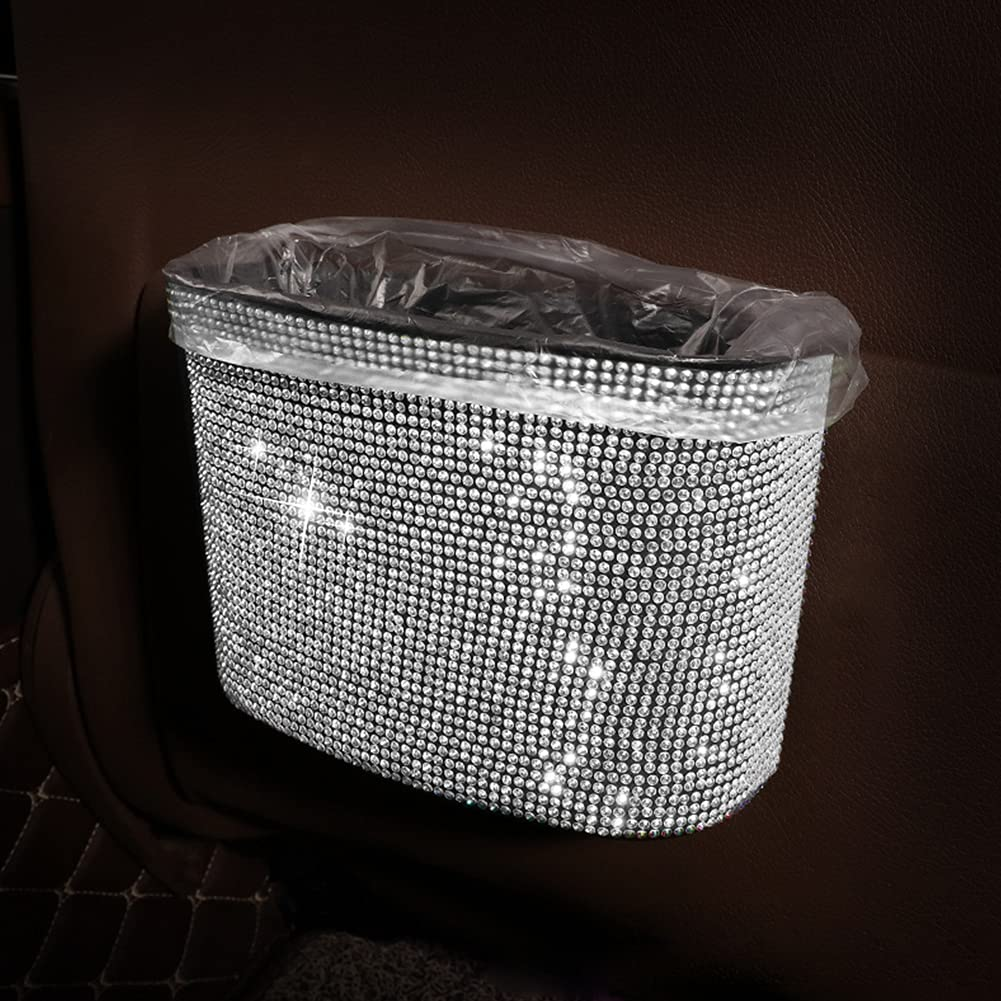 Vemote Bling Car Luxury 55% OFF Trash Can with Waterproof Plastic S Garbage